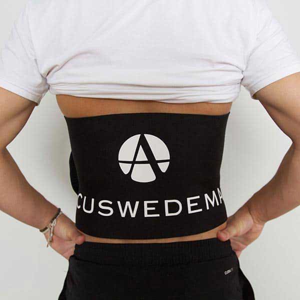 acuswedemat-strap-model-back